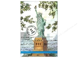 Americana Gifts: Punch Studio Note Pad Large Flip Lady Liberty Painting
