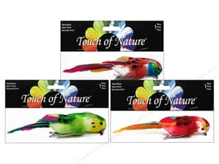 "Midwest Design Birds 6.5"" Fthr Parrot Astd 1pc"