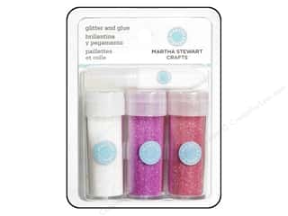 Martha Stewart Crafts: Martha Stewart Glitter Set with Glue Pink