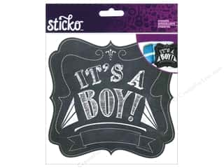 EK Sticko Stickers Chalk It's A Boy