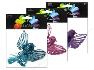 "Decorative Floral Critters & Accessories $3 - $7: Midwest Design Birds 3"" Feather Fancy Assorted Pink/Blue/Purple 1pc"