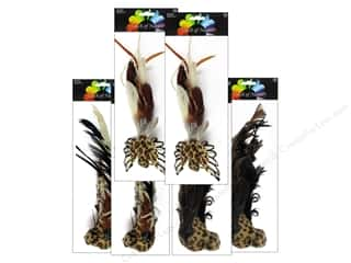 "Decorative Floral Critters & Accessories Midwest Design Birds: Midwest Design Birds 8"" Feather Fancy Safari Assorted 1pc"