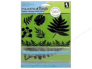 Inkadinkado $4 - $6: Inkadinkado Cling Stamp Tropical Ferns