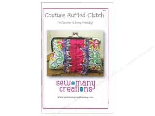 Black Cat Creations Quilting Patterns: Sew Many Creations Couture Ruffled Clutch Pattern