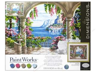 "Projects & Kits Crafting Kits: Paintworks Paint By Number 20""x 16"" Floral Patio"