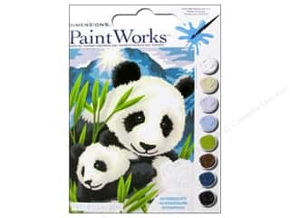 "Printing $9 - $12: Paintworks Paint By Number 9""x 12"" Panda and Cub"