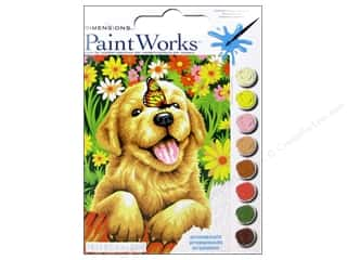"Printing $9 - $12: Paintworks Paint By Number 9""x 12"" Puppy Gardener"