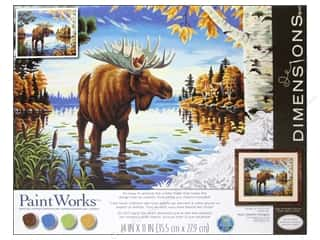 "Outdoors Crafting Kits: Paintworks Paint By Number 14""x 11"" Majestic Moose"