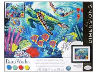 "Weekly Specials Beach & Nautical: Paintworks Paint By Number 14""x 11"" Sea Turtles"