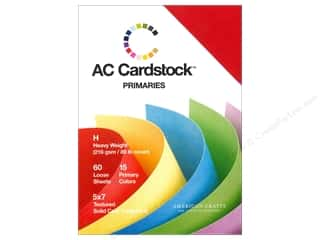 Clearance Coredinations Cardstock Packs: American Crafts 5 x 7 in. Cardstock Pack Primaries