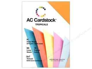 American Crafts 5 x 7 in. Cardstock Pack Tropicals