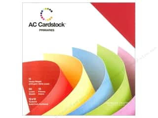 American Crafts Cardstock: American Crafts 12 x 12 in. Cardstock Pack Primaries