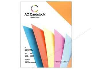 Sale $4 - $8: American Crafts 8 1/2 x 11 in. Cardstock Pack Tropicals