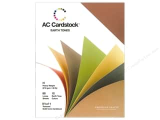 American Crafts Burgundy: American Crafts 8 1/2 x 11 in. Cardstock Pack Earthtones