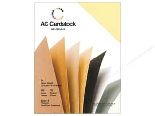 Sale $4 - $8: American Crafts 8 1/2 x 11 in. Cardstock Pack Neutrals