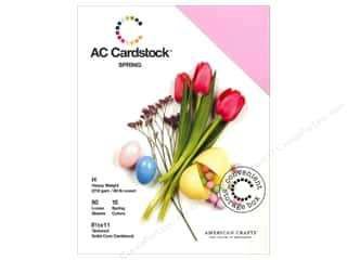 Sale $4 - $8: American Crafts 8 1/2 x 11 in. Cardstock Pack Spring
