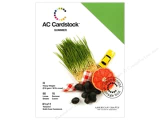 Cardstock  8.5x11: American Crafts 8 1/2 x 11 in. Cardstock Pack Summer