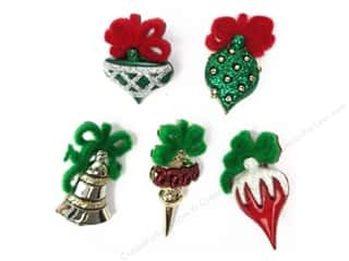 Jesse James Buttons Burgundy: Jesse James Embellishments Christmas Ornaments