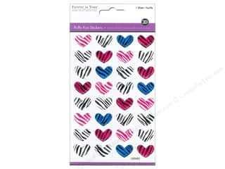Zebra Patterns: Multicraft Sticker Puffy Zebra Heart Medley