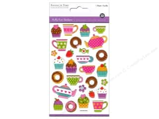 Tea & Coffee Stickers: Multicraft Sticker Puffy Coffee & Dessert