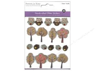 Multicraft Sticker Handmade Glitter Forest Owls