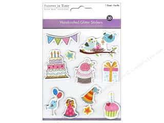 Party & Celebrations Valentine's Day Gifts: Multicraft Sticker Handmade Glitter Happy Bird-day!