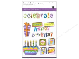 Multicraft Sticker Handmade Glitter Bday Celebrtn