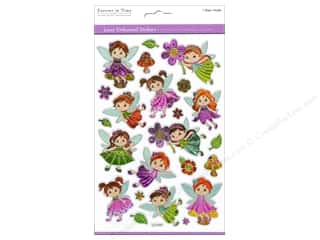 Scrapbooking Angels/Cherubs/Fairies: Multicraft Sticker Laser Embossed Fairy Bloom