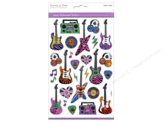 Music & Instruments Stickers: Multicraft Sticker Laser Embossed 80's Rockstar