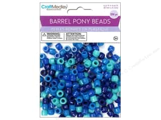 pony beads: Multicraft Bead Barrel Pony The Blues 200pc