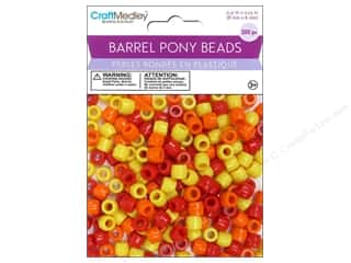 pony beads: Multicraft Bead Barrel Pony Sunshine 200pc