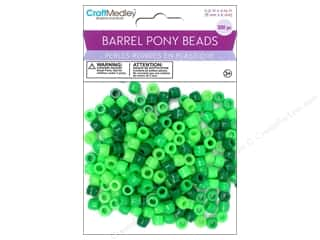pony beads: Multicraft Bead Barrel Pony Verdi 200pc