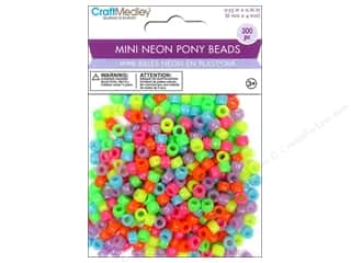 Multicraft Beads Pony Mini Neon 300pc