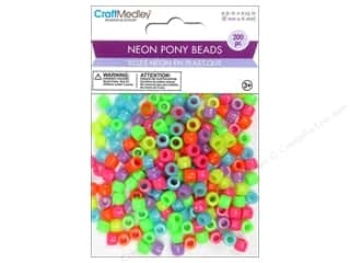Multicraft Beads Pony Neon 200pc