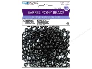 Beads Black: Multicraft Beads Barrel Pony Black 1.5oz