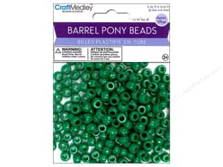 Multicraft Beads Barrel Pony Kelly Green 1.5oz