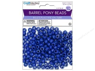 pony beads: Multicraft Bead Barrel Pony Royal Blue 1.5oz