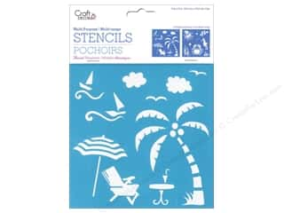 "Stencils 6 x 6: Multicraft Craft Decor Stencil 6""x 6"" Island Life"