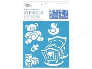 "Teddy Bears $6 - $9: Multicraft Craft Decor Stencil 6""x 6"" Baby Icons"