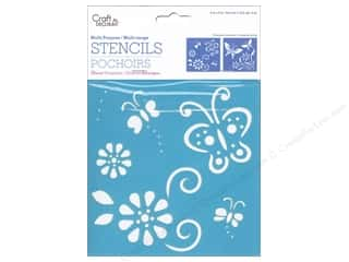 "Insects Craft & Hobbies: Multicraft Craft Decor Stencil 6""x 6"" Butterfly Fling"