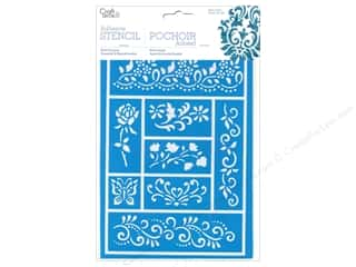 Craft & Hobbies Stencils: Multicraft Craft Decor Stencil Adhesive Mini Vine Borders