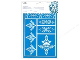 Stencils Craft & Hobbies: Multicraft Craft Decor Stencil Adhesive Brocade