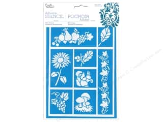 Fruit & Vegetables Yarn & Needlework: Multicraft Craft Decor Stencil Adhesive Nature's Bounty