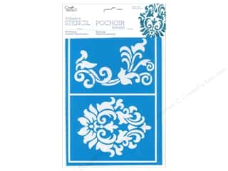 Stencils Craft & Hobbies: Multicraft Craft Decor Stencil Adhesive Damask
