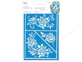 Flowers Craft & Hobbies: Multicraft Craft Decor Stencil Adhesive Rosey
