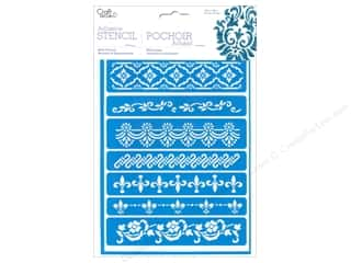 Borders Stencils: Multicraft Craft Decor Stencil Adhesive Border Style