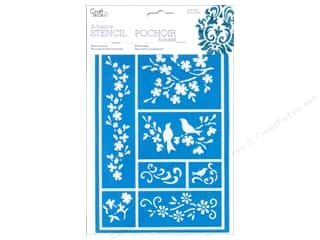 Flowers / Blossoms Animals: Multicraft Craft Decor Stencil Adhesive Birds On A Vine