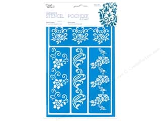 Multi's Embellishment  Yarn New: Multicraft Craft Decor Stencil Adhesive Fancy Floral Vines