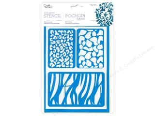 Multi's Embellishment  Yarn: Multicraft Craft Decor Stencil Adhesive Safari