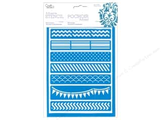 Borders Craft & Hobbies: Multicraft Craft Decor Stencil Adhesive Trendy Borders